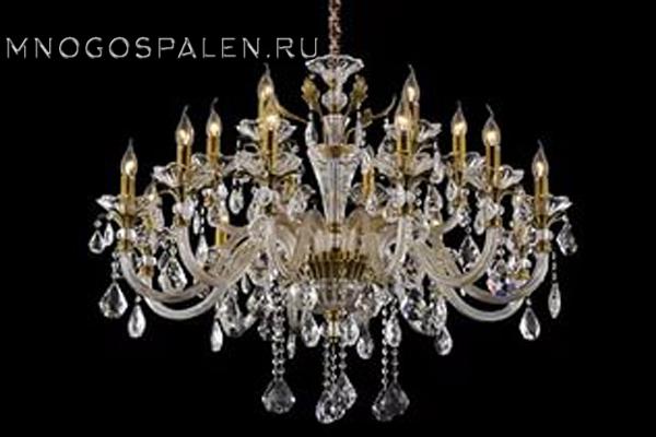 Люстра Crystal lux Alicante SP12+6 купить в салоне-студии мебели Барселона mnogospalen.ru много спален мебель Италии классические современные