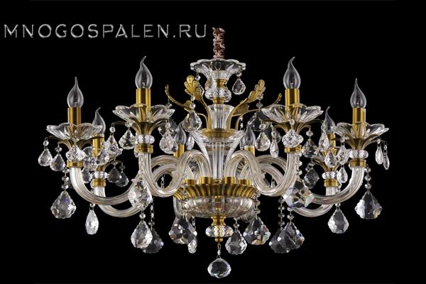Подвесная люстра Crystal Lux Alicante SP8 купить в салоне-студии мебели Барселона mnogospalen.ru много спален мебель Италии классические современные