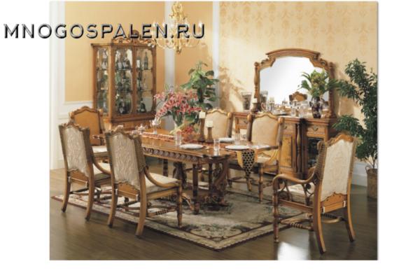Стол обеденный Alexander купить в салоне-студии мебели Барселона mnogospalen.ru много спален мебель Италии классические современные