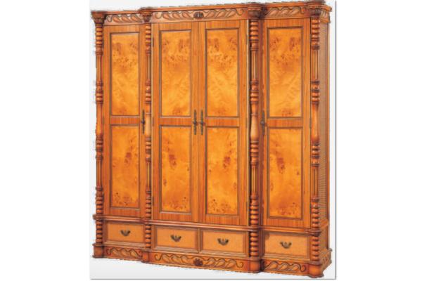 Шкаф 4-х дверный Windsor купить в салоне-студии мебели Барселона mnogospalen.ru много спален мебель Италии классические современные