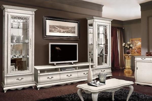 Гостиная «Оскар» #1 купить в салоне-студии мебели Барселона mnogospalen.ru много спален мебель Италии классические современные