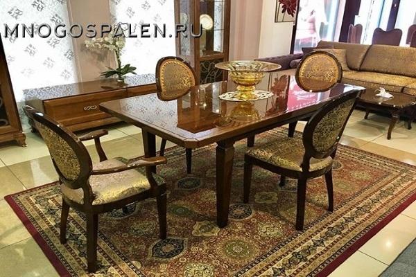 СТОЛ SAMANTA 1 купить в салоне-студии мебели Барселона mnogospalen.ru много спален мебель Италии классические современные