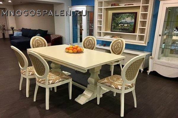 СТОЛ SAMANTA 2 купить в салоне-студии мебели Барселона mnogospalen.ru много спален мебель Италии классические современные