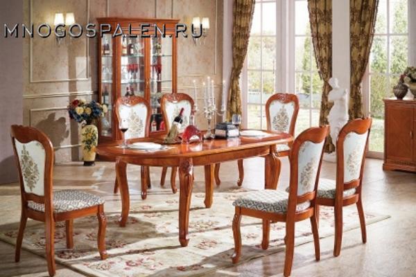 Стол обеденный MK-5134-DN купить в салоне-студии мебели Барселона mnogospalen.ru много спален мебель Италии классические современные