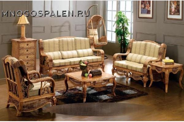 Комплект мебели из ротанга арт.6022 купить в салоне-студии мебели Барселона mnogospalen.ru много спален мебель Италии классические современные