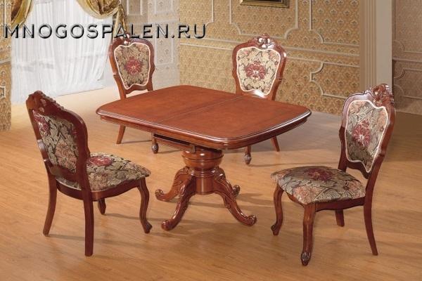Стол D2013 HN Glaze купить в салоне-студии мебели Барселона mnogospalen.ru много спален мебель Италии классические современные