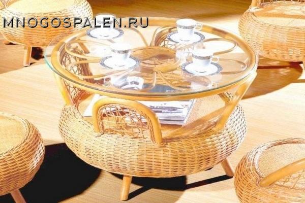 Чайный стол из ротанга арт.3043 купить в салоне-студии мебели Барселона mnogospalen.ru много спален мебель Италии классические современные