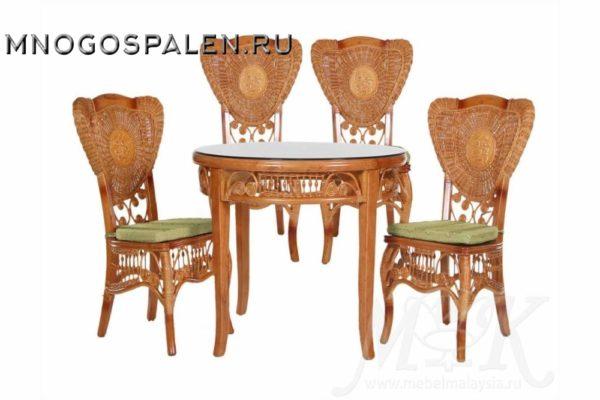 Обеденная группа из ротанга 5011 купить в салоне-студии мебели Барселона mnogospalen.ru много спален мебель Италии классические современные