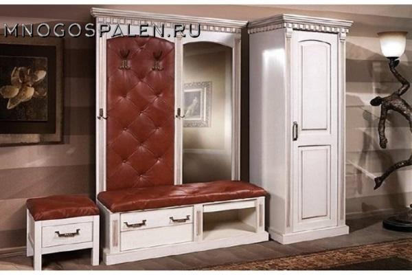 Прихожая Грация купить в салоне-студии мебели Барселона mnogospalen.ru много спален мебель Италии классические современные