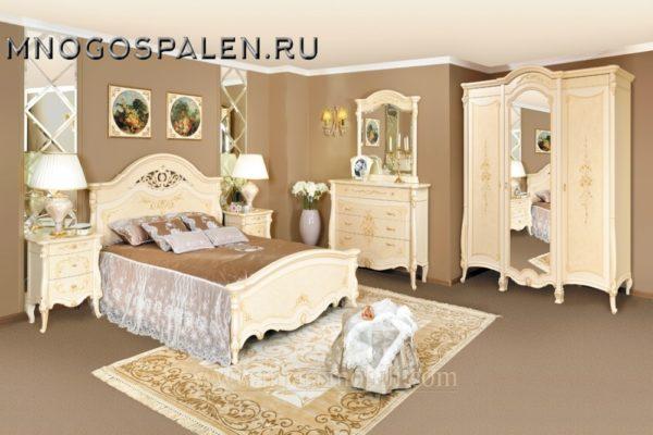Спальня Prestige беж MIASSMOBILI купить в салоне-студии мебели Барселона mnogospalen.ru много спален мебель Италии классические современные