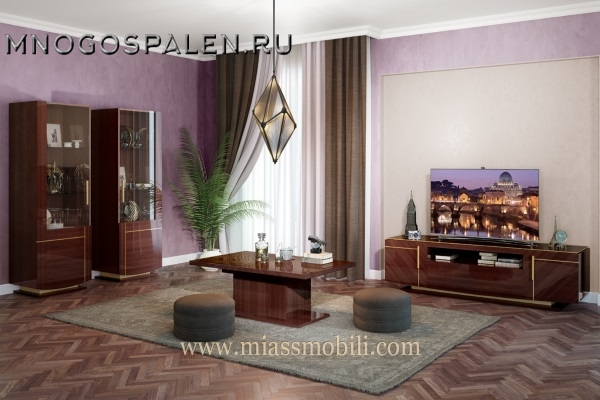 Гостиная  Mirella MiassMobili купить в салоне-студии мебели Барселона mnogospalen.ru много спален мебель Италии классические современные