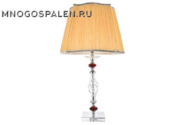 Настольная лампа Crystal Lux Catarina LG1 Gold/Transparent-Cognac купить в салоне-студии мебели Барселона mnogospalen.ru много спален мебель Италии классические современные