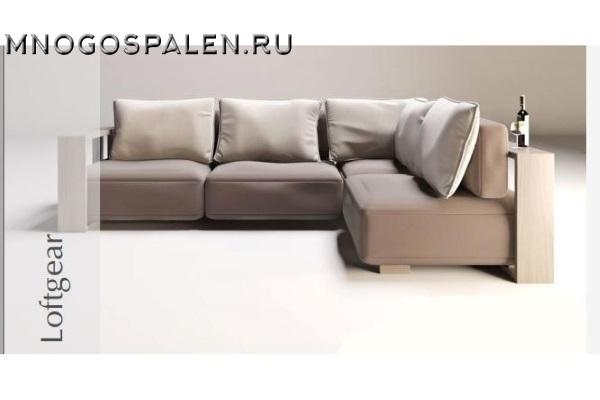 Диван LOFTGEAR купить в салоне-студии мебели Барселона mnogospalen.ru много спален мебель Италии классические современные