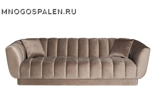 Диван трехместный велюровый серый ZW-81103 GRE купить в салоне-студии мебели Барселона mnogospalen.ru много спален мебель Италии классические современные