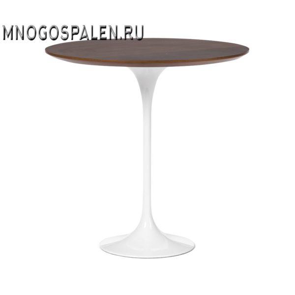 Кофейный стол Tulip с деревянной столешницей высота 52  5848 купить в салоне-студии мебели Барселона mnogospalen.ru много спален мебель Италии классические современные