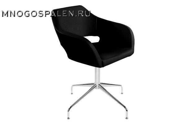 Кресло Bosa черная кожа купить в салоне-студии мебели Барселона mnogospalen.ru много спален мебель Италии классические современные