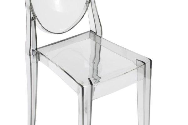 Стул Victoria Ghost прозрачный серый купить в салоне-студии мебели Барселона mnogospalen.ru много спален мебель Италии классические современные