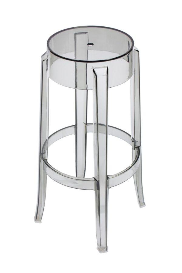 Барный стул Charles Ghost серый купить в салоне-студии мебели Барселона mnogospalen.ru много спален мебель Италии классические современные