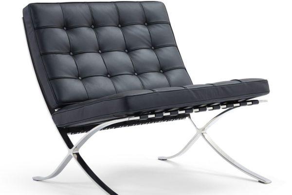 Кресло BARCELONA CHAIR чёрный купить в салоне-студии мебели Барселона mnogospalen.ru много спален мебель Италии классические современные