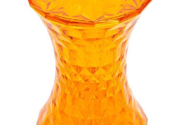 Стул-пуф Stone прозрачный оранжевый купить в салоне-студии мебели Барселона mnogospalen.ru много спален мебель Италии классические современные