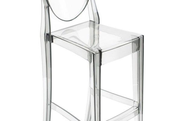 Барный стул Victoria Ghost прозрачный серый купить в салоне-студии мебели Барселона mnogospalen.ru много спален мебель Италии классические современные