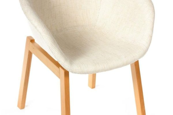 Кресло Hee Welling textile белое купить в салоне-студии мебели Барселона mnogospalen.ru много спален мебель Италии классические современные