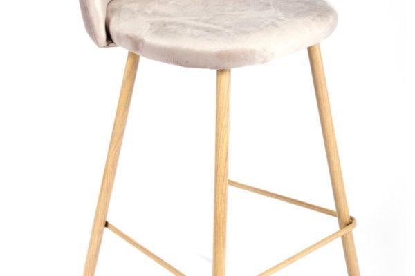 Барный стул Vivian латте купить в салоне-студии мебели Барселона mnogospalen.ru много спален мебель Италии классические современные