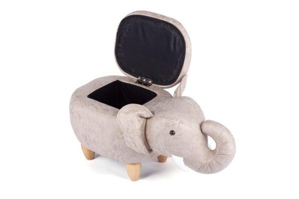 Пуф Слон с отсеком для хранения светло-серый купить в салоне-студии мебели Барселона mnogospalen.ru много спален мебель Италии классические современные
