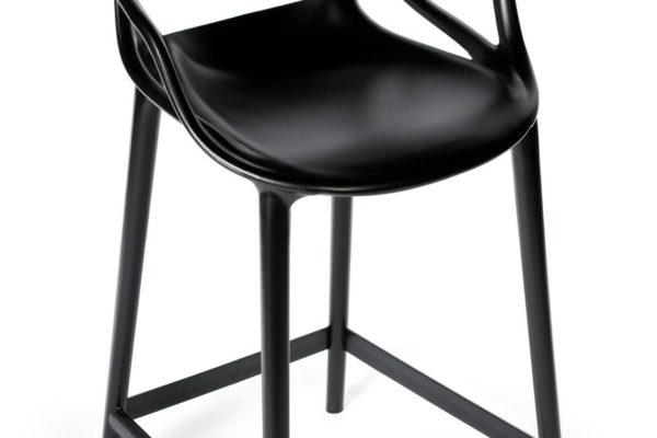 Стул полубарный Masters чёрный купить в салоне-студии мебели Барселона mnogospalen.ru много спален мебель Италии классические современные