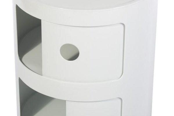 Тумба Componibili с 2 отсеками белая купить в салоне-студии мебели Барселона mnogospalen.ru много спален мебель Италии классические современные