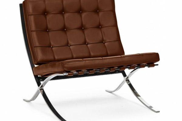 Кресло BARCELONA CHAIR коньячный купить в салоне-студии мебели Барселона mnogospalen.ru много спален мебель Италии классические современные