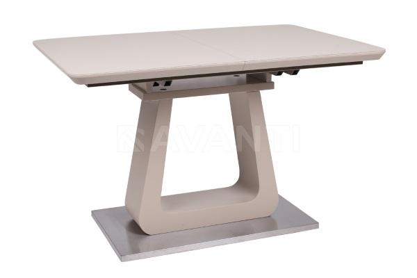 Стол обеденный раскладной WIND (1200-1600x800x760) латте матовый купить в салоне-студии мебели Барселона mnogospalen.ru много спален мебель Италии классические современные