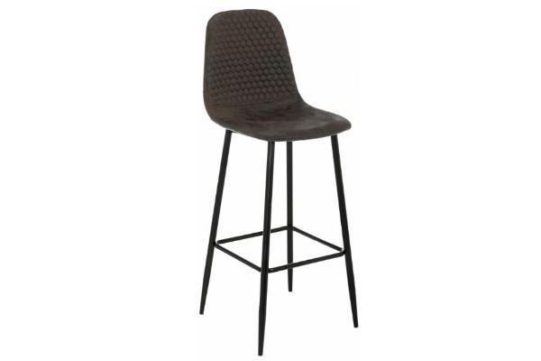 Барный стул Drop black / dark brown купить в салоне-студии мебели Барселона mnogospalen.ru много спален мебель Италии классические современные