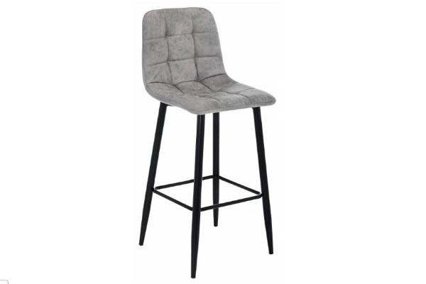 Барный стул Chio black / grey купить в салоне-студии мебели Барселона mnogospalen.ru много спален мебель Италии классические современные