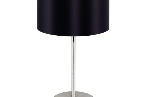 31627 Настольная лампа MASERLO, 1х60W (E27), ?230, H420, никель мат./текстиль, черный, золотой купить в салоне-студии мебели Барселона mnogospalen.ru много спален мебель Италии классические современные