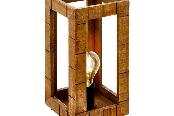 43016 Настольная лампа TAKHIRA, 1х60W(E27), 170х170, H340, сталь, дерево, черный, коричневый купить в салоне-студии мебели Барселона mnogospalen.ru много спален мебель Италии классические современные