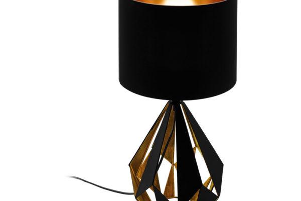 43077 Настольная лампа CARLTON 5, 1х60W(E27), ?250, H510, cталь, черный, медь/текстиль, черный, медь купить в салоне-студии мебели Барселона mnogospalen.ru много спален мебель Италии классические современные