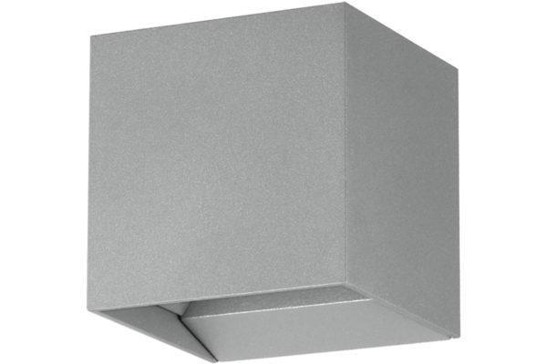 61923 Уличный настен. светодиод. свет-к CALPINO PRO, 2x3,3W, IP 54, 3000K, алюминий/серебряный купить в салоне-студии мебели Барселона mnogospalen.ru много спален мебель Италии классические современные
