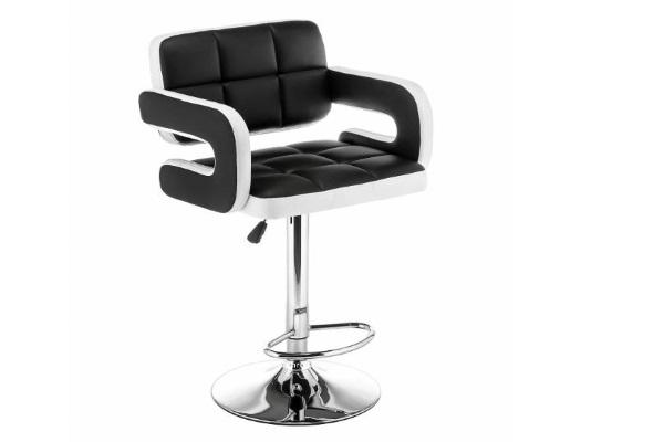 Барный стул Bent черный / белый купить в салоне-студии мебели Барселона mnogospalen.ru много спален мебель Италии классические современные