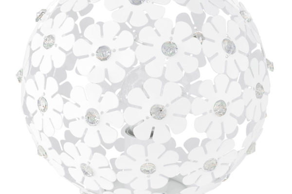 92286 Настольная лампа HANIFA, 1X60W (E27), ?250, сталь, белый купить в салоне-студии мебели Барселона mnogospalen.ru много спален мебель Италии классические современные