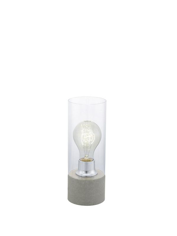 94549 Настольная лампа TORVISCO 1, 1x60W (E27), ?110, H270, сталь, серый/стекло, прозрачный купить в салоне-студии мебели Барселона mnogospalen.ru много спален мебель Италии классические современные