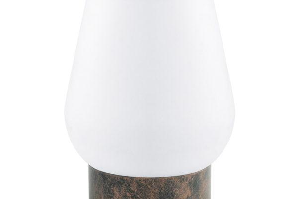 95762 Наст. лампа DAMASCO 1, 1х60W(E14), ?135, H175, сталь, медный состарен./cатиновое стекло, белый купить в салоне-студии мебели Барселона mnogospalen.ru много спален мебель Италии классические современные