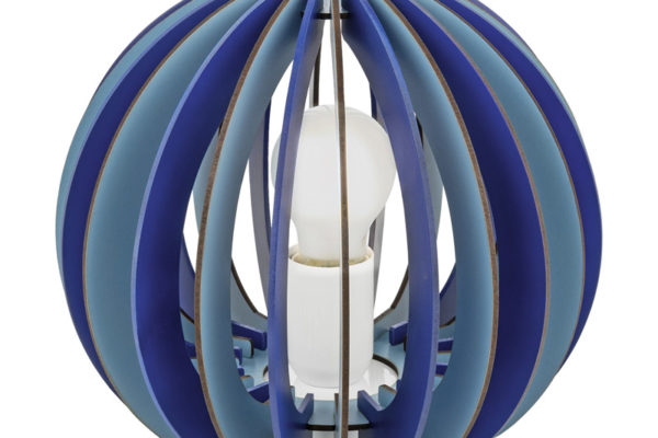 95951 Настольная лампа в детскую комнату FABELLA, 1х42W(E27), ?250, H225, сталь, синий/дерево, синий купить в салоне-студии мебели Барселона mnogospalen.ru много спален мебель Италии классические современные
