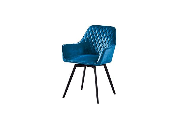 Кресло поворотное DC79001R велюр темно-лазурный купить в салоне-студии мебели Барселона mnogospalen.ru много спален мебель Италии классические современные
