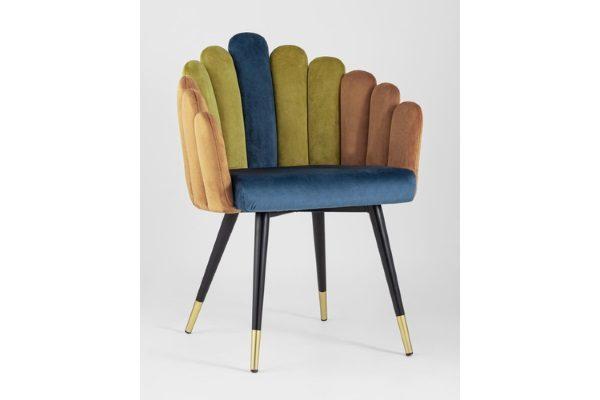 Кресло Камелия сине-зеленый купить в салоне-студии мебели Барселона mnogospalen.ru много спален мебель Италии классические современные